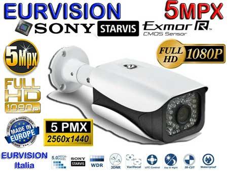 Kit DVR 5MPx con rilevamento viso + 4 telecamere 5mpx Sony + hard disk omaggio