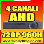 AHD DVR 04 CANALI VIDEO 1 CANALE AUDIO IBRIDO H264 RS485 CLOUD REAL TIME 720P 960H