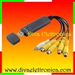 Vai alla scheda di: Grabber acquisizione video 4 canali video e 1 audio su porta USB