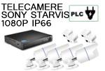 Vai alla scheda di: Kit 4 canali Bullet metallo 1080P PLC power line su presa elettrica  telecamere Sony