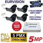 Vai alla scheda di: Kit 4 telecamere XVI da 5MPx con XVR 6in1 da 5MPx