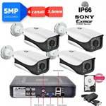 Vai alla scheda di: Kit DVR 5MPx 4ch con rilevamento viso + 4 telecamere 5MPx Sony + hard disk omaggio