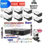 Vai alla scheda di: Kit DVR 5MPx 8ch con rilevamento viso + 8 telecamere 5MPx XVI + hard disk omaggio