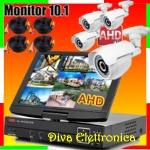 Vai alla scheda di: KIT DVR AHD IBRIDO CON MONITOR 10.1 4CH.VIDEO,4 CAM AHD, 4 PROLUNGHE, Hard Disk OMAGGIO