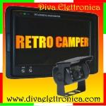 Vai alla scheda di: Kit retromarcia per CAMPER con monitor 7 pollici e telecamera CCD colore stagna 18 led IR 92 gradi VISUALE
