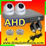 Vai alla scheda di: Kit video sorveglianza 2 Telecamere Dome AHD e DVR 5 in 1 FULL HD