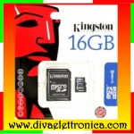 Micro sd Card 16 Gb con adattatore