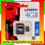 Vai alla scheda di: Micro sd Card 4 Gb con adattatore