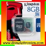 Vai alla scheda di: Micro sd Card 8 Gb con adattatore