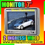 Vai alla scheda di: Monitor 7 pollici per auto con 2 ingressi video