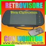 Vai alla scheda di: Specchietto per auto con monitor 7 pollici 2 ingressi video con telecomando
