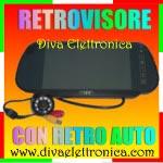 Vai alla scheda di: Specchio Retrovisore con Monitor 7 pollici e telecamera retro auto CCD colore con 9 led IR 120 gradi VISUALE