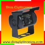 Vai alla scheda di: TeleCamera per retromarcia NERA CCD 600 TVL a colori 92 gradi visuale per Camper Camion Mezzi Agricoli Macchine Operatrici