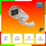 Vai alla scheda di: Telecamera Sony IP BULLET PTZ 1080P, zoom 4X motorizzato, Brandeggio motorizzato, 4 Dot Led, P2P,  ONVIF, MOTION DETECT
