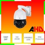 Vai alla scheda di: Telecamera Speed Dome AHD 2MPx, 18x, sensore 1/3 Panasonic, 4 Led Array invisibili