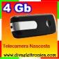 Chiavetta USB spia con telecamera nascosta e memoria inclusa di 4 Gb funziona anche in motion detection registra video a colori con audio scatta fotografie