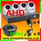 Vai alla scheda di: Kit AHD alta definizione ECO con DVR, 4 telecamere Dome antivandalo, 4 alimentatori, 100mt. cavo RG58 e 8 connettori a vite