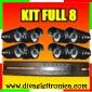 Vai alla scheda di: Kit Full con DVR 8 canali + 8 telecamere con 24 LED infrarossi complete di alimentatori