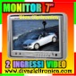 Monitor 7 pollici per auto con 2 ingressi video